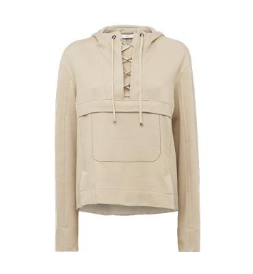 HIGH Sudadera con capucha y cordones color beig