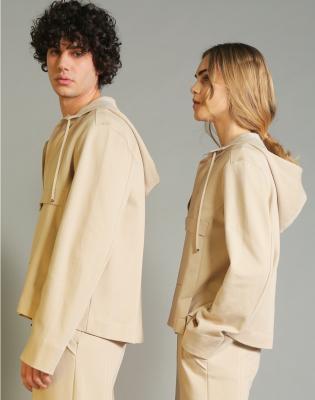 HIGH Sudadera con capucha y cordones color beig - 3