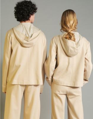 HIGH Sudadera con capucha y cordones color beig - 4