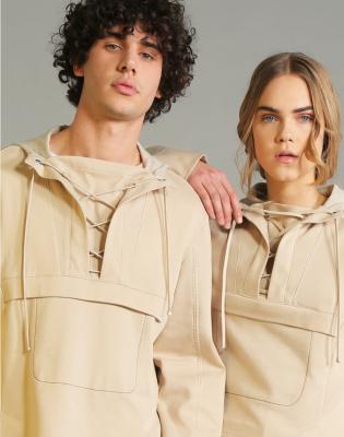 HIGH Sudadera con capucha y cordones color beig - 5