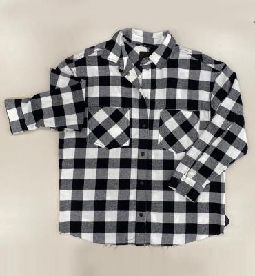 NOLITA Camisa oversize en cuadros grandes blanco y negro