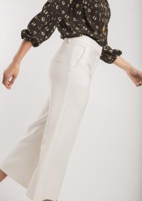 ALBA CONDE Pantalón culotte blanco - 1