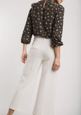 ALBA CONDE Pantalón culotte blanco - 2