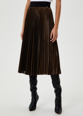 LIU JO falda midi metalizada - 1