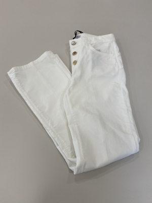 LIU JO pantalón blanco aterciopelado - 1