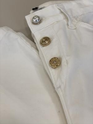 LIU JO pantalón blanco aterciopelado - 2