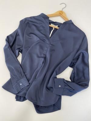 MARGITTES Blusa básica combinación tejidos - 1