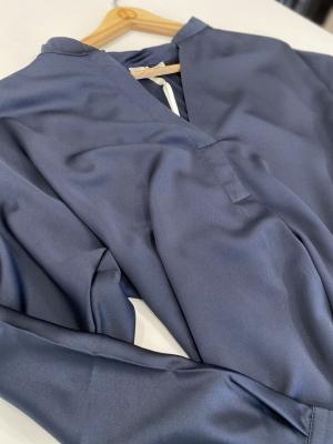 MARGITTES Blusa básica combinación tejidos - 2