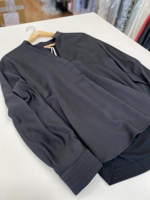 MARGITTES Blusa básica combinación tejidos - 3