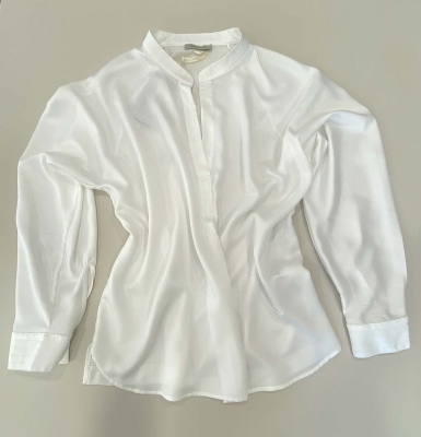 MARGITTES Blusa básica combinación tejidos - 4