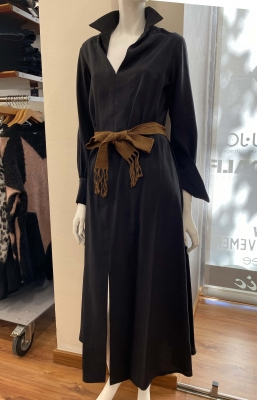ALYSI Vestido largo negro - 1