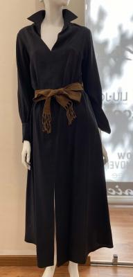 ALYSI Vestido largo negro - 2