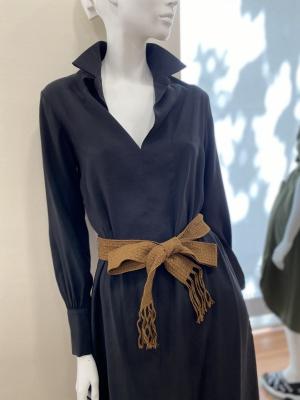 ALYSI Vestido largo negro - 3