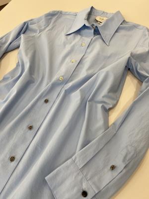 ALYSI Camisa básica azul claro - 2