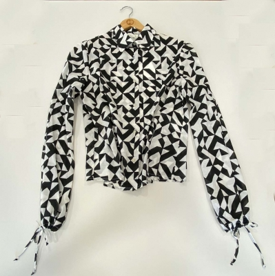 ALYSI Camisa estampada blanco y negro - 1