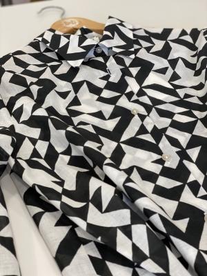 ALYSI Camisa estampada blanco y negro - 2