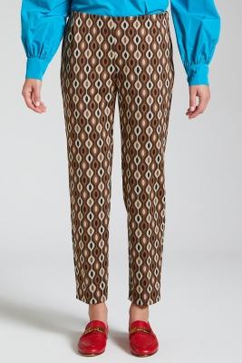 MALÌPARMI Pantalón estampado marrón - 2