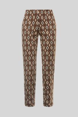 MALÌPARMI Pantalón estampado marrón - 4