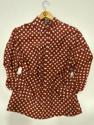 MALÌPARMI Camisa de seda con lunares