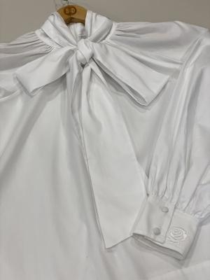 MALÌPARMI Blusa lazada blanca - 1