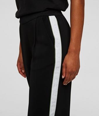 KARL LAGERFELD pantalones con cinta con el logotipo