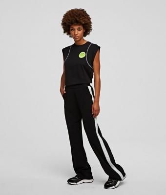 KARL LAGERFELD pantalones con cinta con el logotipo - 2