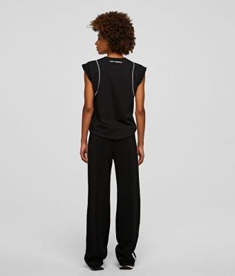 KARL LAGERFELD pantalones con cinta con el logotipo - 4