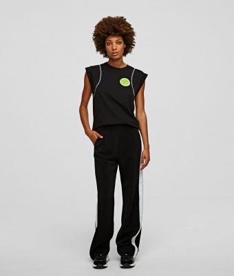 KARL LAGERFELD pantalones con cinta con el logotipo - 5