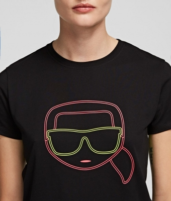 KARL LAGERFELD Camiseta con silueta Karl fluorescente k/ikonik - 1