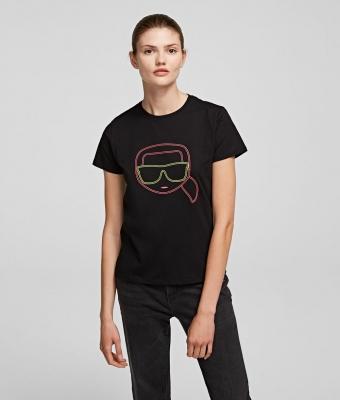 KARL LAGERFELD Camiseta con silueta Karl fluorescente k/ikonik - 2