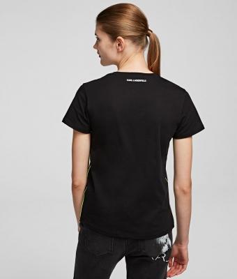 KARL LAGERFELD Camiseta con silueta Karl fluorescente k/ikonik - 4