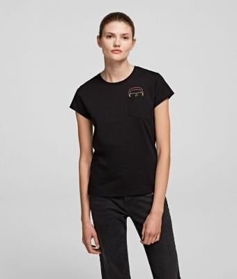 KARL LAGERFELD Camiseta con silueta Karl fluorescente K/Ikonik bolsillo - 2