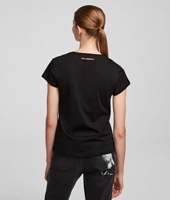 KARL LAGERFELD Camiseta con silueta Karl fluorescente K/Ikonik bolsillo - 4
