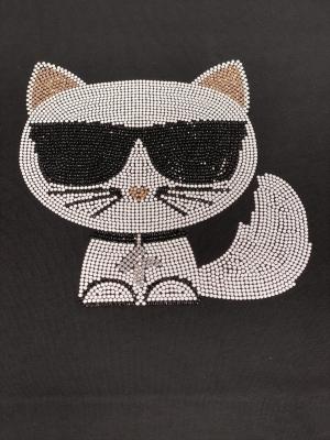 KARL LAGERFELD Camiseta strass - 2