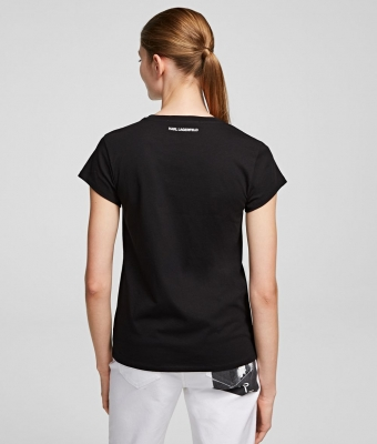 KARL LAGERFELD Camiseta con bolsillo y logotipo rue St-Guillaume - 4