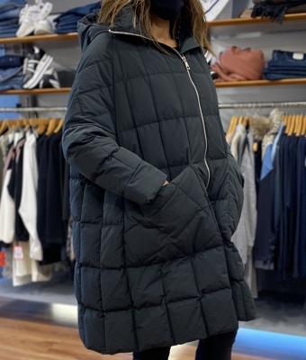 P.U.R.E. Abrigo largo negro - 1