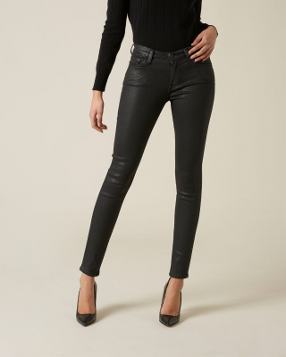 7 FOR ALL MANKIND Vaquero encerado pitillo negro