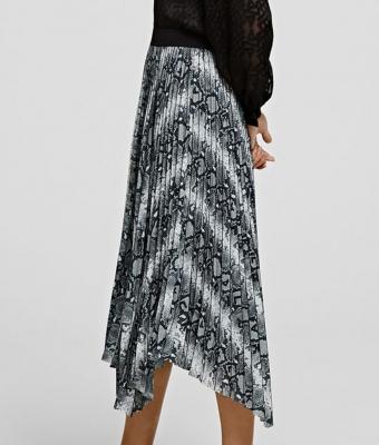 KARL LAGERFELD Falda plisada estampado piel de serpiente - 2
