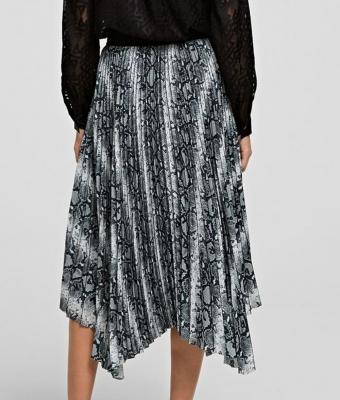 KARL LAGERFELD Falda plisada estampado piel de serpiente - 3