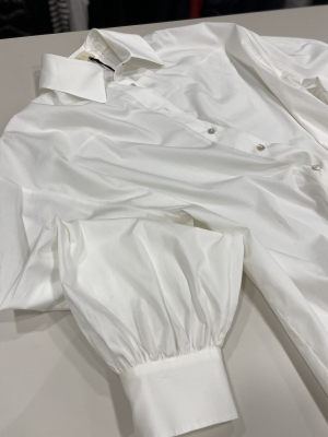 TCN Camisa blanco roto básica manga larga - 4