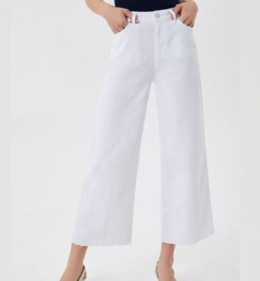 LIU JO pantalón blanco ancho - 1