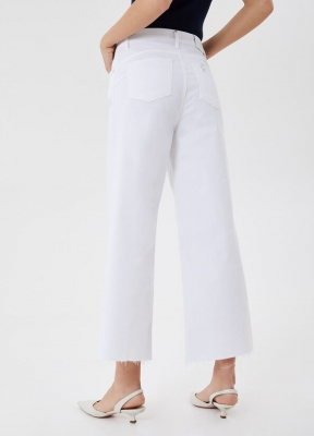 LIU JO pantalón blanco ancho - 2