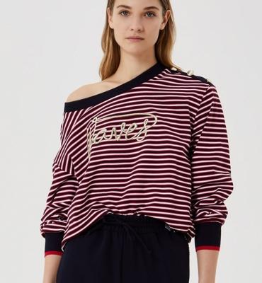 LIU JO jersey rayas marineras rojo y azul marino