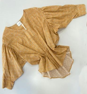 ALYSI Blusa estampada en algodón