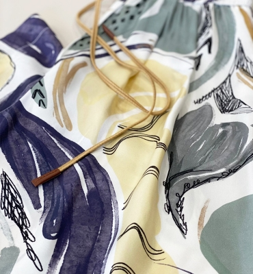 ALYSI Pantalón ancho estampado tonos pastel - 3