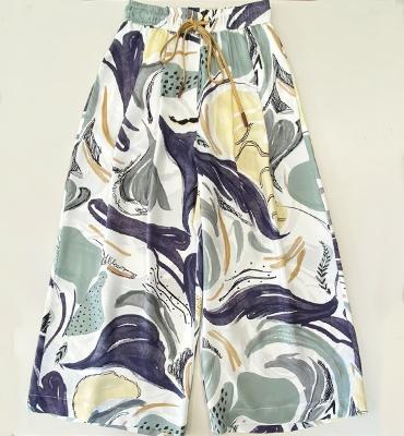 ALYSI Pantalón ancho estampado tonos pastel - 4