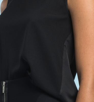 HIGH blusa sin mangas espalda de satén - 2
