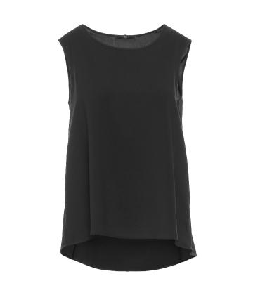 HIGH blusa sin mangas espalda de satén - 4