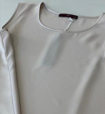 HIGH blusa sin mangas espalda de satén - 5