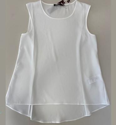 HIGH blusa sin mangas espalda de satén - 6